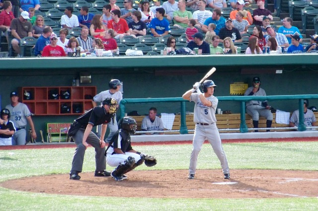 Hernan Perez bats for the West Michigan Whitecaps in 2011. (Photo by Craig Wieczorkiewicz/The Midwest League Traveler)