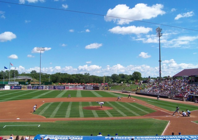 The ballpark now known as Neuroscience Group Field at Fox Cities Stadium. (Photo by Craig Wieczorkiewicz/The Midwest League Traveler)