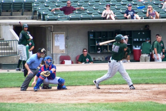 Rymer Liriano swings at a pitch while playing for the Fort Wayne TinCaps in 2011. (Photo by Craig Wieczorkiewicz/The Midwest League Traveler)