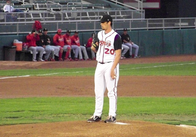 Sean Nolin on the mound for the Lansing Lugnuts in 2011. (Photo by Craig Wieczorkiewicz/The Midwest League Traveler)