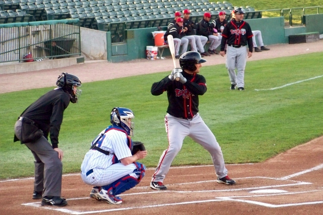 Kevin Pillar played for the Lansing Lugnuts in 2012. (Photo by Craig Wieczorkiewicz/The Midwest League Traveler)
