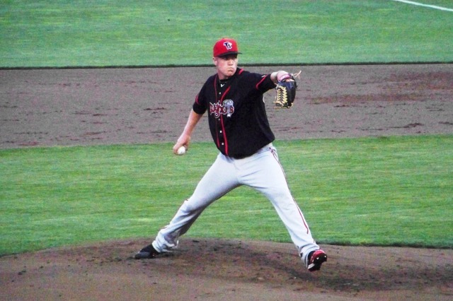 Noah Syndergaard pitched for the Lansing Lugnuts in 2012. (Photo by Craig Wieczorkiewicz/The Midwest League Traveler)