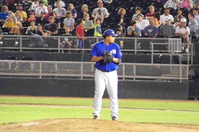 Tigers prospect Bruce Rondon on the mound for the Whitecaps at Lansing's Cooley Law School Stadium in 2011. (Photo by Craig Wieczorkiewicz/The Midwest League Traveler)