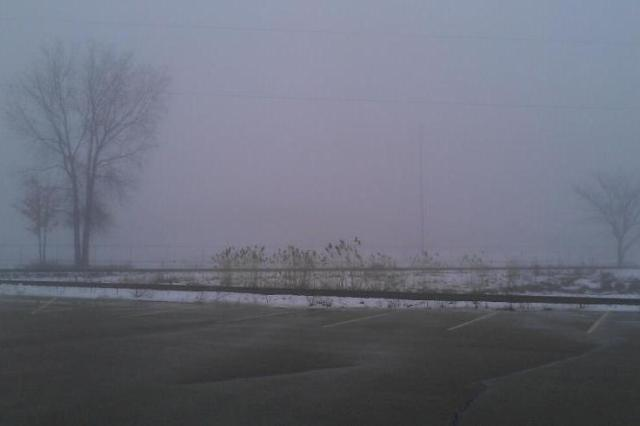 The same view of Fox Cities Stadium yesterday wasn't any view at all.