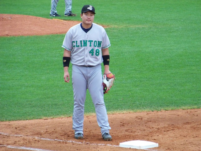 Ji-Man Choi played 66 games with the Clinton LumberKings in 2012. (Photo by Craig Wieczorkiewicz/The Midwest League Traveler)