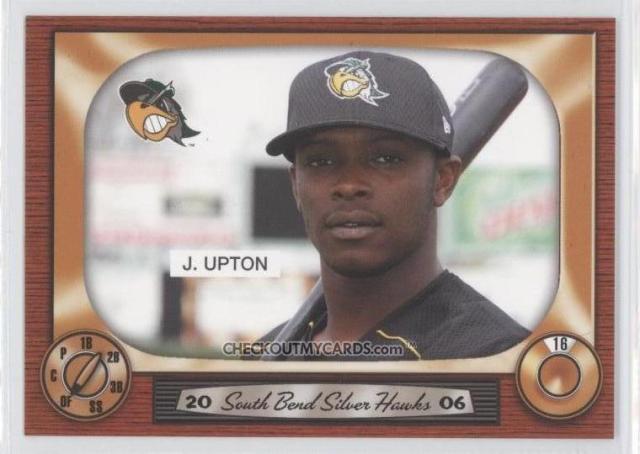 Justin Upton baseball card