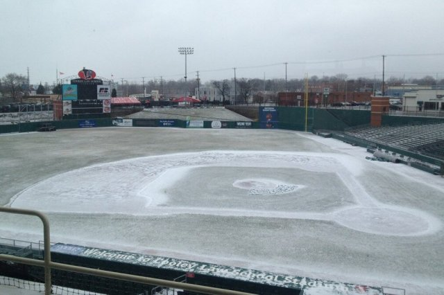 The scene at Cooley Law School Stadium this morning.
