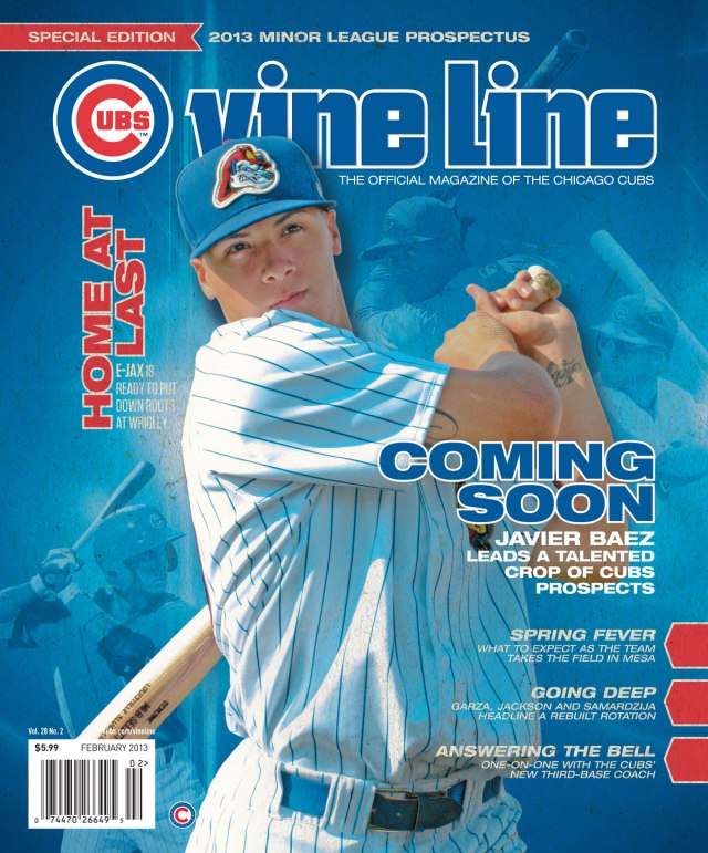 Chicago Cubs prospect Javier Baez on the cover of Vine Line.