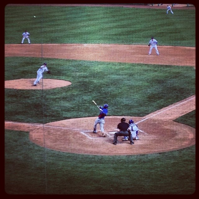 This photo of Jorge Soler's homer was tweeted by Chicago baseball writer Meghan Montemurro.
