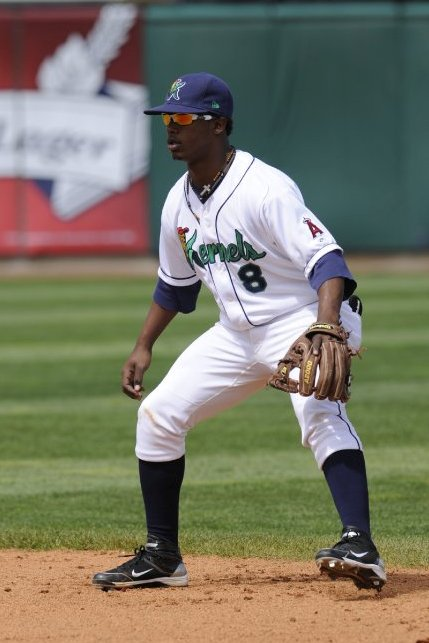 Jean Segura playing second base for the 2010 Cedar Rapids Kernels (Photo from The Sprouting News)