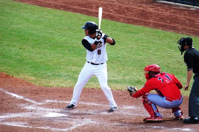 Rio Ruiz bats for the Quad Cities River Bandits in 2013. (Photo by Craig Wieczorkiewicz/The Midwest League Traveler)