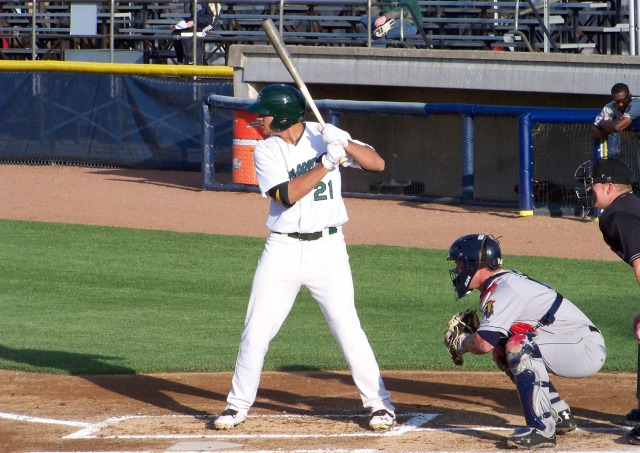 Matt Olson played first base for the 2013 Beloit Snappers.