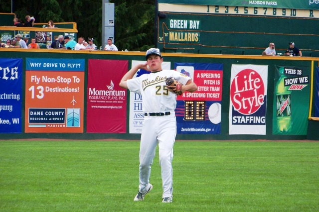 Madison Mallards infielder Erik Forgione