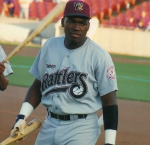 David Ortiz played with the Wisconsin Timber Rattlers in 1996. (Photo by Brad Krause)