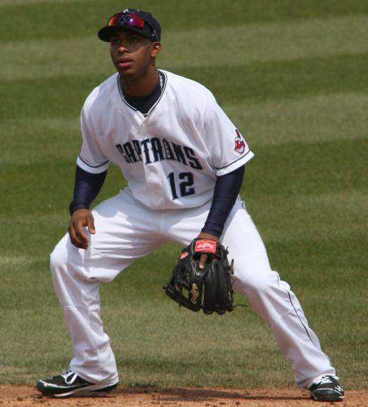 Francisco Lindor played shortstop for the 2012 Lake County Captains. (Photo courtesy of the Lake County Sentinel)