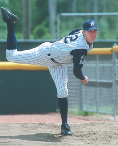 Jake Peavy warming up in the bullpen for the 2000 Fort Wayne Wizards.