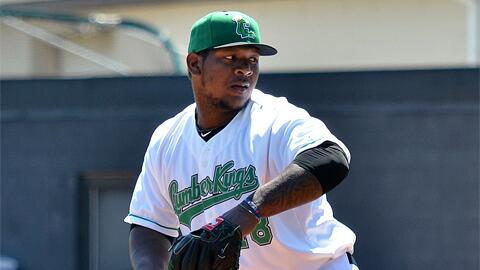 Victor Sanchez pitched for the Clinton LumberKings in 2013. (Photo by Paul R. Gierhart/MiLB.com)