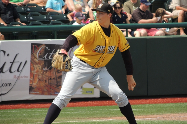 Blake Snell delivers a pitch for the Hot Rods last year. (Photo by Craig Wieczorkiewicz/The Midwest League Traveler)