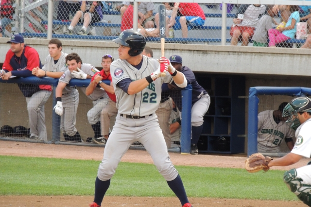 Minnesota Twins rookie Max Kepler played for the 2013 Cedar Rapids Kernels. (Photo by Craig Wieczorkiewicz/The Midwest League Traveler)