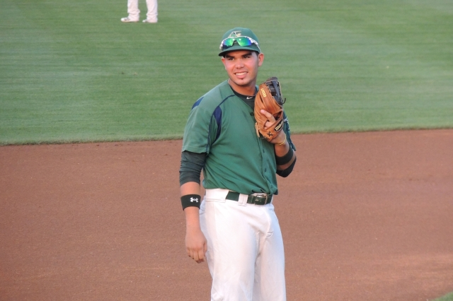 Renato Nunez played third base for the 2013 Beloit Snappers.