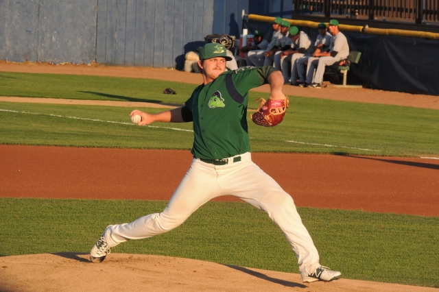 Oakland Athletics prospect Dylan Covey pitched for the Beloit Snappers in 2013 and 2014. (Photo by Craig Wieczorkiewicz/The Midwest League Traveler)