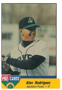 Alex Rodriguez's 1994 Appleton Foxes baseball card