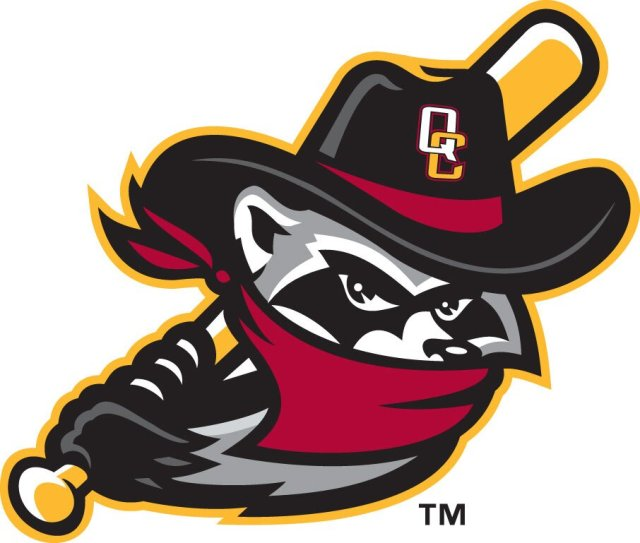 The alternate logo that will be on River Bandits batting practice caps.