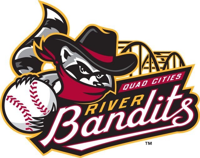 The new primary logo of the Quad Cities River Bandits.