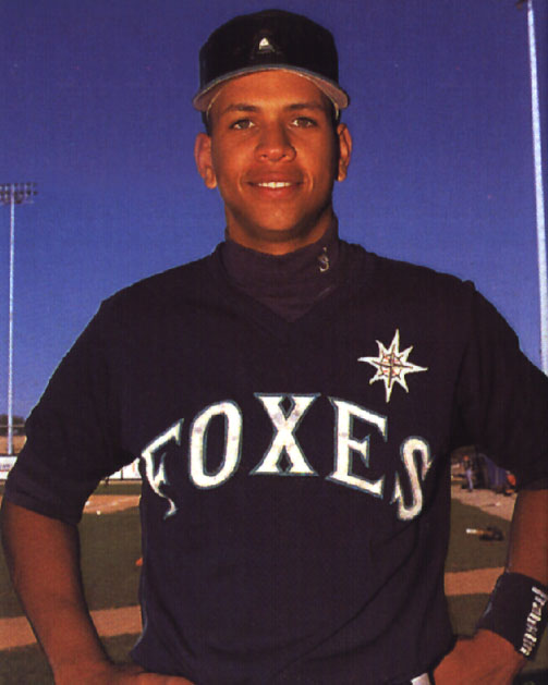 Alex Rodriguez in happier times, when he played with the Appleton Foxes in 1994. (Photo courtesy of the Wisconsin Timber Rattlers)