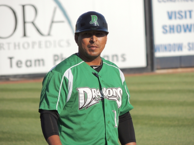 Dayton Dragons manager Jose Nieves (Photo by Craig Wieczorkiewicz/The Midwest League Traveler)