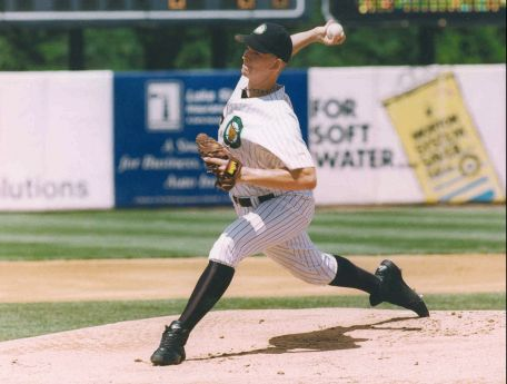 A.J. Burnett struck out 186 for the 1998 Kane County Cougars, a franchise record. (Photo from The Cougars Den)