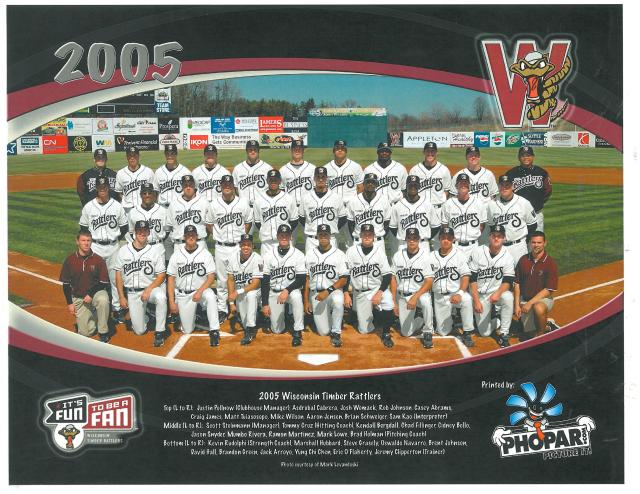 The 2005 Wisconsin Timber Rattlers team photo.