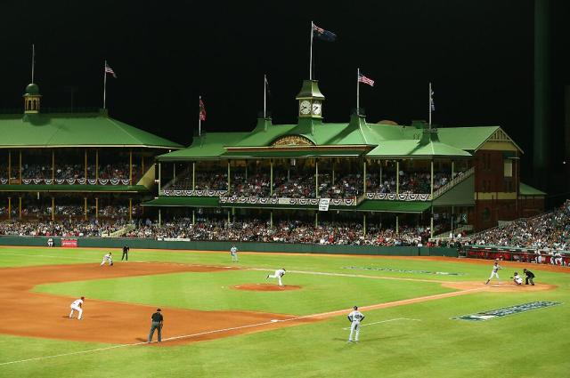 Today Australia's Sydney Cricket Ground became the oldest stadium to host an MLB game.