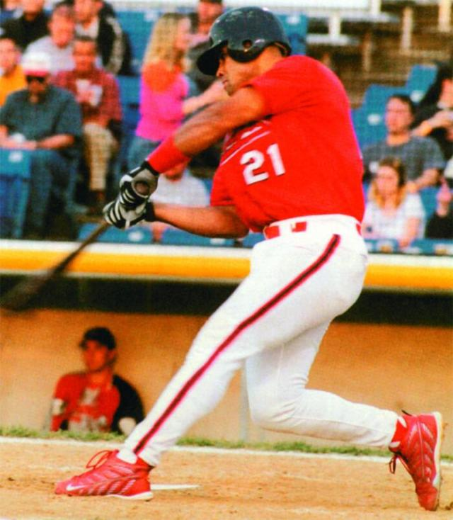 Albert Pujols as a member of the 2000 Peoria Chiefs. (Photo courtesy of the Peoria Chiefs)
