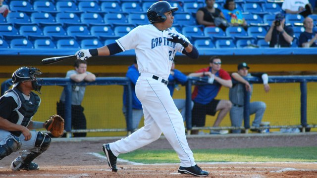 Lake County Captains OF Anthony Santander (Photo courtesy of FOX Sports Ohio)