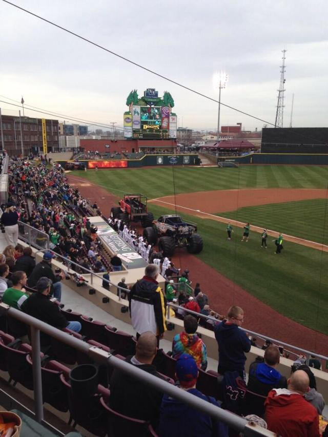 Monster trucks at Fifth Third Field