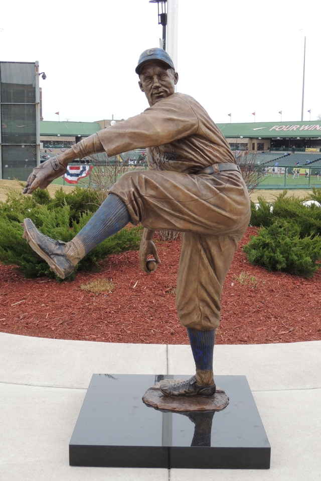 The Stanley Coveleski statue that was unveiled at Four Winds Field earlier this month.