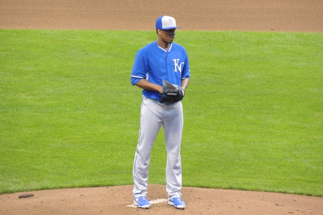 Yordano Ventura on the mound.
