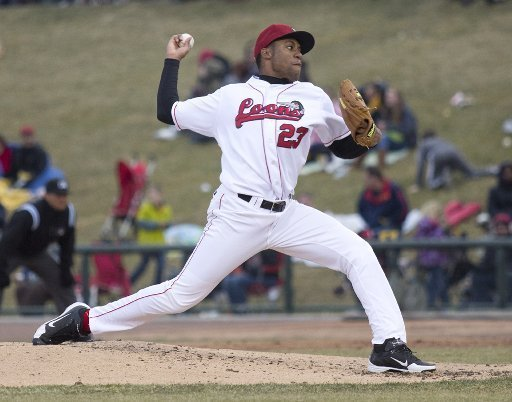 Zachary Bird delivers a pitch for the Great Lakes Loons last year. (Photo by Colleen Harrison/The Saginaw News)