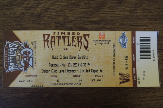 It's not often that you see baseball tickets this cheap anymore, especially for the second row behind the dugout!