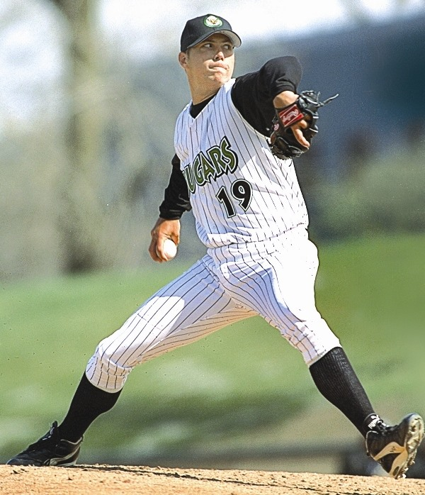 Josh Beckett pitched in the Midwest League in 2000. (Photo courtesy of the Kane County Cougars)