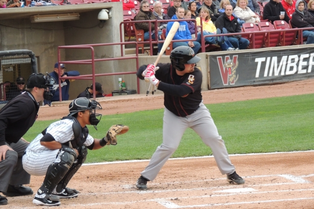 Quad Cities River Bandits 3B Tyler White hit a 2-run homer in the 6th inning.
