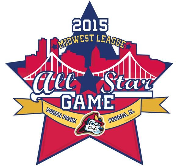 The 2015 Midwest League All-Star Game logo created by the Peoria Chiefs.
