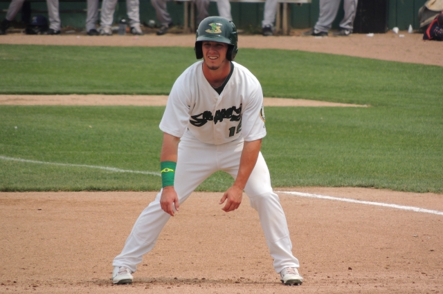 "New Tampa Bay Rays prospect Herschel ""Boog"" Powell (Photo by Craig Wieczorkiewicz/The Midwest League Traveler)"