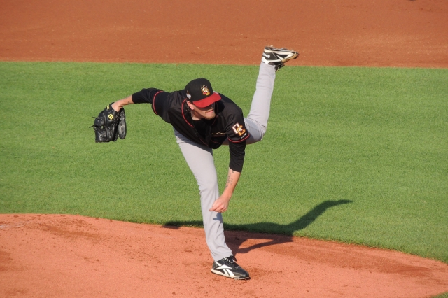 River Bandits SP Evan Grills struck out six batters in five innings.