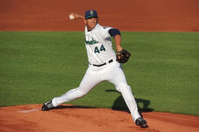 Fernando Romero made three starts for the Cedar Rapids Kernels before undergoing Tommy John surgery in 2014. (Photo by Craig Wieczorkiewicz/The Midwest League Traveler)