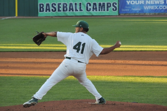 RHP Junior Mendez returns to Beloit this year after pitching for the Snappers in 2014. (Photo by Craig Wieczorkiewicz/The Midwest League Traveler)
