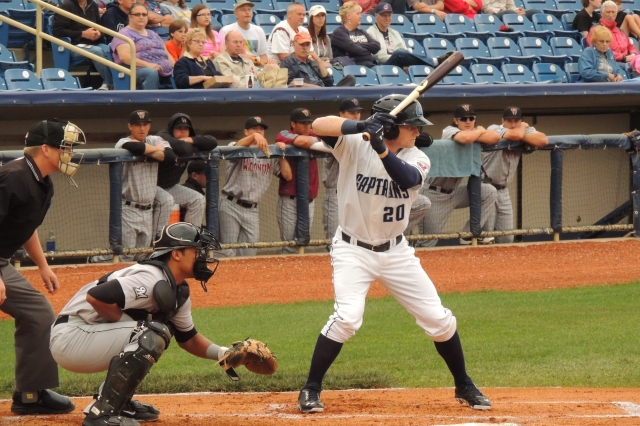 Clint Frazier and three other former Lake County Captains were traded for reliever Andrew Miller on Sunday. (Photo by Craig Wieczorkiewicz/The Midwest League Traveler)