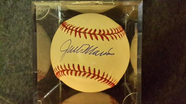 The baseball Jack Morris autographed for me.