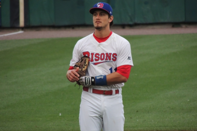 Buffalo Bisons INF Kevin Nolan batted .301 with 3 HR and 49 RBI in 107 games with the 2010-11 Lansing Lugnuts.